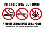 Affiche sur l'interdiction de fumer la cigarette